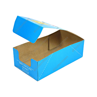 Custom Four Corner With Display Lid Boxes UK-1